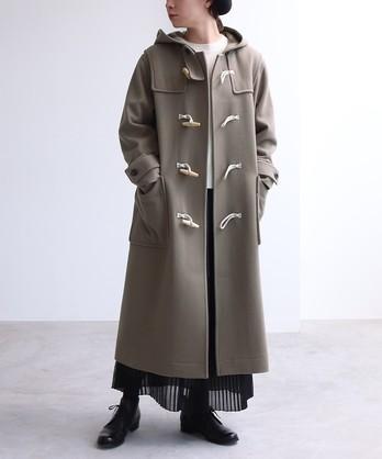 ○super100 Wool ロングダッフルコート