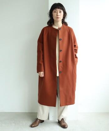 ○super100 Wool ラグランコクーンコート
