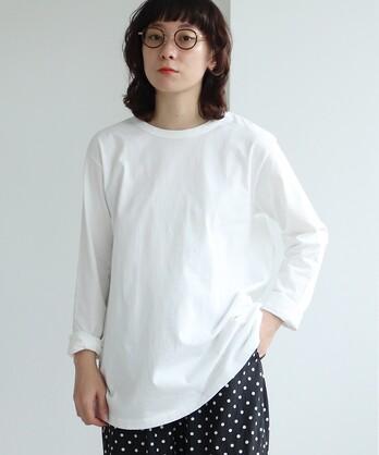△High Twist Plating/コットン long sleeve T-シャツ