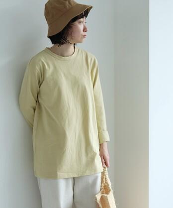 High Twist Plating/コットン long sleeve T-シャツ