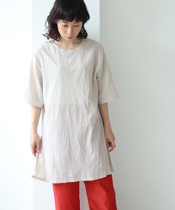 ○塩縮コットン天竺 product dye over sized プルオーバー