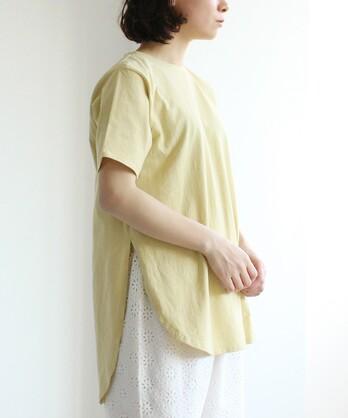○High Twist Plating/コットン Tale Tシャツ