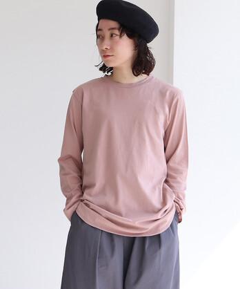 Supima コットン/キュプラ 天竺 Long Sleeve T-シャツ