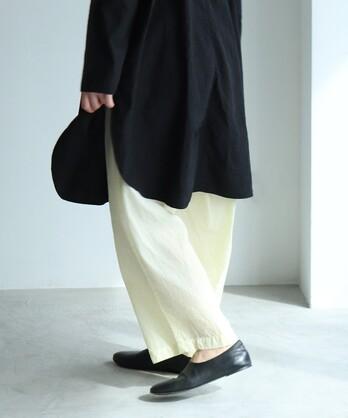 ○コットン/キュプラ製品染め petti cocoon パンツ