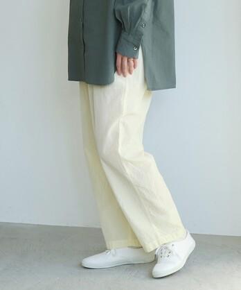 △コットン/キュプラ製品染め Petti パンツ