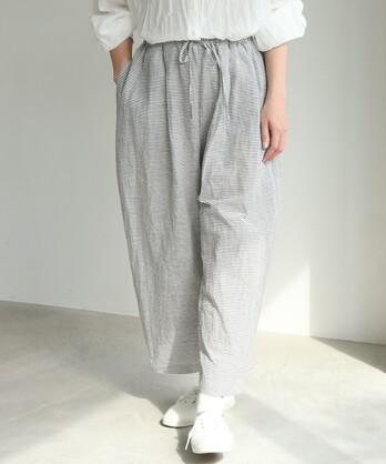 ○キュプラ/コットン boder cocoon パンツ