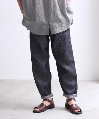 Linen Twill tarpered パンツ