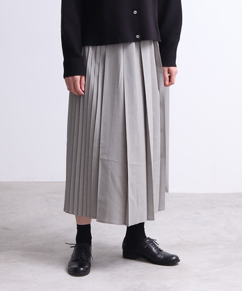 △アシンメトリープリーツスカート