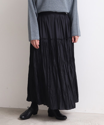 セシェ切替え random pleats スカート