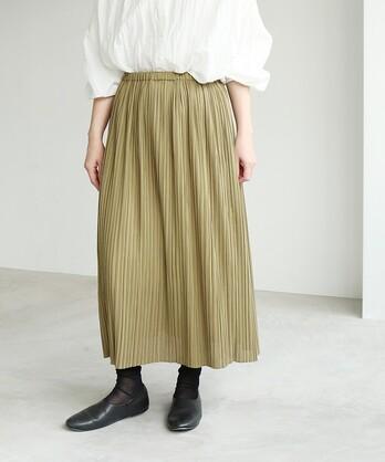 ○Sheer random pleated スカート