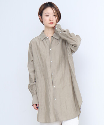 ○C/Cu/Liローン マニッシュシャツ