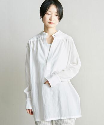 ○C/Cu/Liローン 2WAYスタンドシャツ