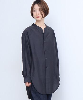 △Cu/C/Liローン 液流染バンドカラーシャツ