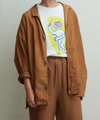 △Cu/C/Liローン シャツジャケット