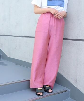 【予約販売】〇△Cu/モダールシャンブレー ポケットイージーパンツ