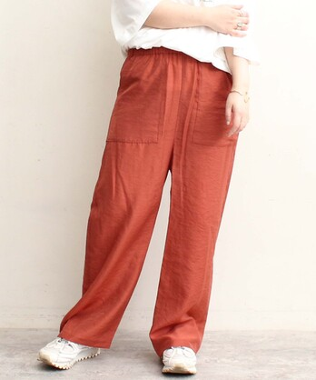 △Cu/モダールシャンブレー ポケットイージーパンツ