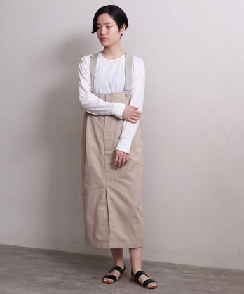 ○HEMP/Cカツラギサスペンダースカート