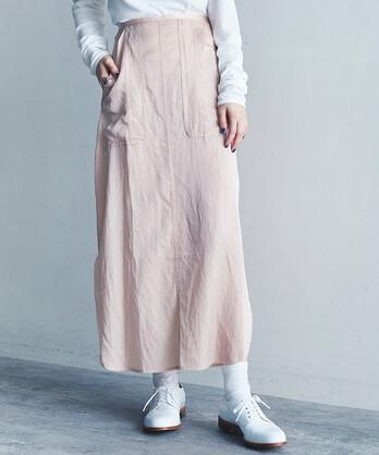 【予約販売】○CU/Cサテンナチュラルヴィンテージラウンドヘムスカート
