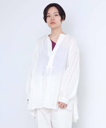 △○boyang linen スモックブラウス