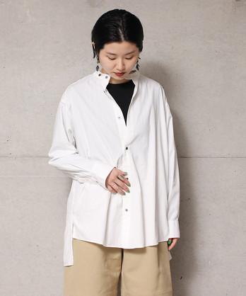 ○C/Si shadow stripe スタンドカラーシャツ