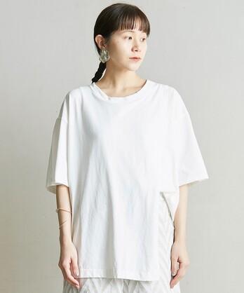 △○80/2強撚天竺 スリットロングTシャツ