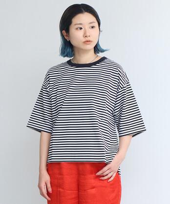 △24G度詰ボーダーTシャツ