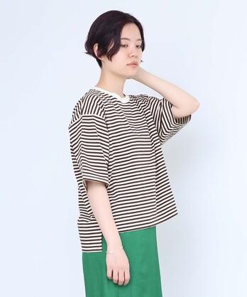 24G度詰ボーダーTシャツ