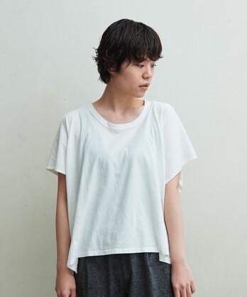 △強撚ガーゼ天竺 アシメT-SH