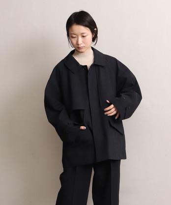 強撚C/Wギャバ ショートジャケット