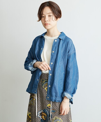 △○C/Liライトオンスデニム コーチジャケット