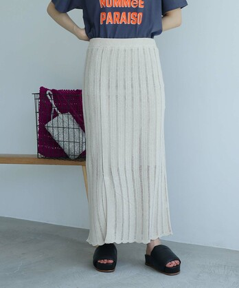 ○Raw silk 透かし編みスカート
