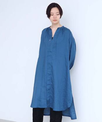 △○boyang linen スモックシャツワンピース