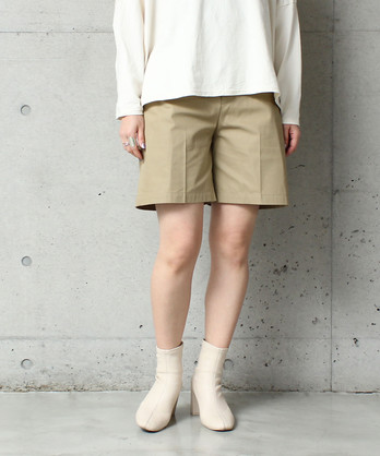 ○T/C 強撚ギャバ ショートパンツ