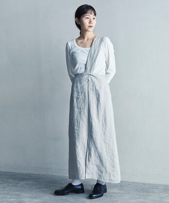 ○LINEN TWILL ワンショルダースカート