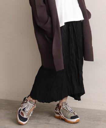 Cu/Cフロスターツイルドロップポケットスカート
