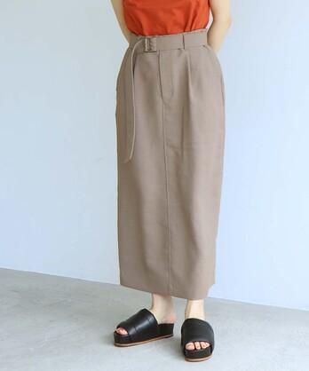 ○DICROS AIRO ベルト付ストレートスカート