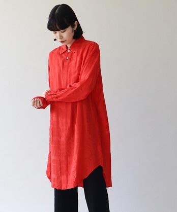 △ドビーストライプ リラックスロングシャツ