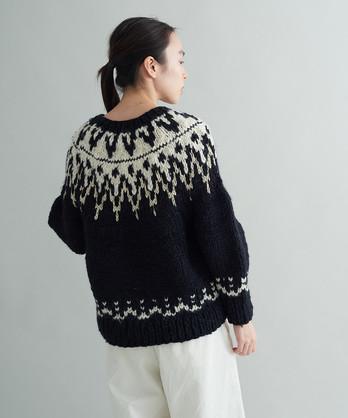 ネパール手編み 求心JQプルオーバー