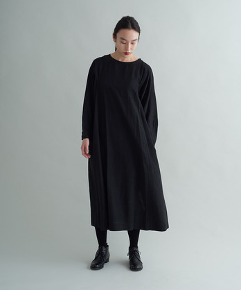 △cu/c/liローン オーバーマイヤーロングスリットドレス