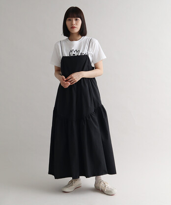 【予約販売】△mauri ティアードキャミワンピース