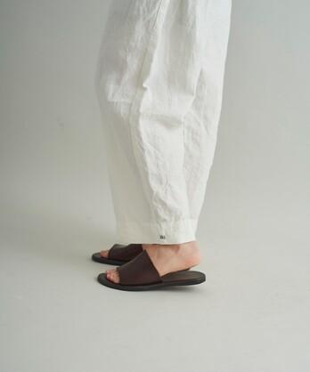 ○60高密度リネン トリプルワッシャーイージーパンツ