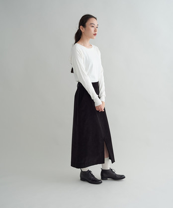 ○コットンコーデュロイ ミディスカート