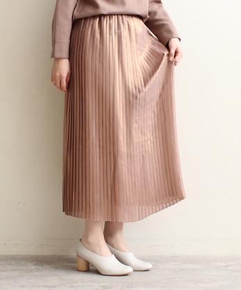△ラメシフォンプリーツスカート