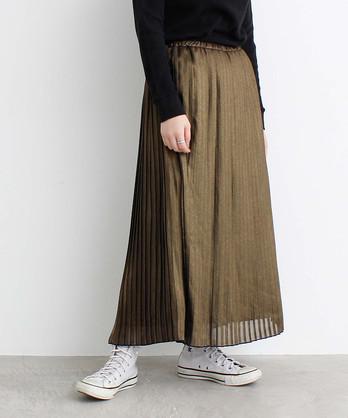 ラメシフォンプリーツスカート