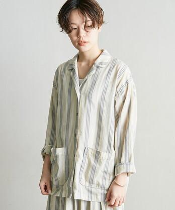 ○ドビーストライプシャツジャケット