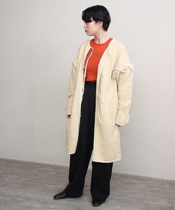 △ニットキルトロングジャケット