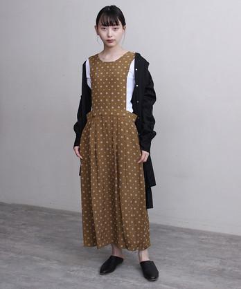 小紋柄ジャカード2wayジャンパースカート