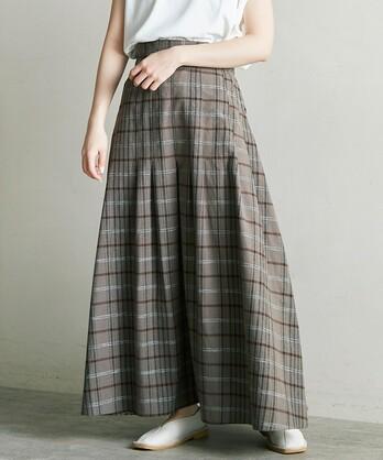 ○C/Siネップ先染チェック 2Wayスカート