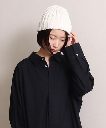 綿コーマリブニット帽