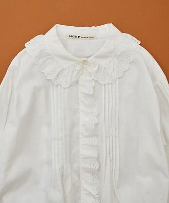 〇malle Cotton モノグラム刺繍ブラウス NO.014